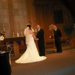 Amanda and I exchanging vows.